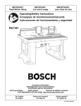 Bosch RA1181 Use and Care Manual