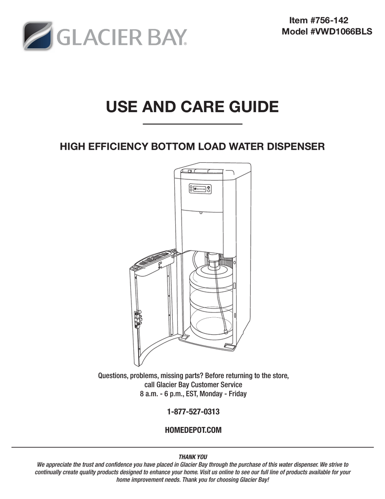 Glacier bay hot and cold water dispenser-vwd2266w-2-hdu the home.