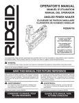 RIDGID R250AF18 Use and Care Manual