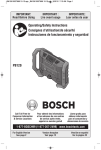 Bosch PB120 Use and Care Manual