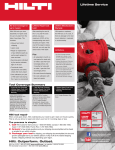 Hilti 218369 Instructions / Assembly
