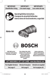 Bosch RHA-50 Use and Care Manual