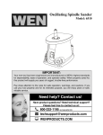 WEN 6510 Use and Care Manual
