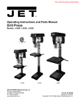 JET 354401 Use and Care Manual