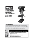 WEN 4210 Use and Care Manual