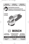 Bosch 3725DEVS Use and Care Manual