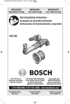 Bosch HDC100 Use and Care Manual