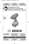 Bosch 26618-01 Use and Care Manual