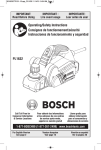 Bosch PL1632 Use and Care Manual