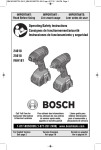 Bosch CLPK232-181 Use and Care Manual