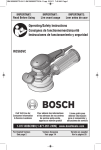 Bosch ROS65VC-5 Use and Care Manual