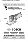 Bosch OS50VC Use and Care Manual