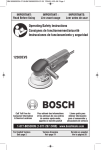 Bosch 1250DEVS Use and Care Manual