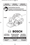 Bosch PL2632K Use and Care Manual