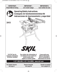 Skil 3410-02 Use and Care Manual