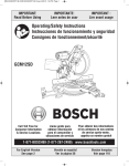Bosch GCM12SD Use and Care Manual