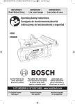 Bosch 4100-09 Use and Care Manual