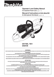 Makita EK8100 Use and Care Manual