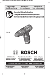 Bosch PS130BN Use and Care Manual
