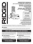RIDGID R869B Use and Care Manual