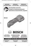 Bosch MXH180BN Use and Care Manual