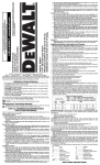 DEWALT D26676 Use and Care Manual