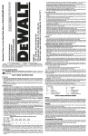 DEWALT DW124 Use and Care Manual