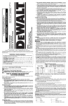 DEWALT DW328 Use and Care Manual