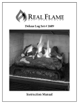 Real Flame 2609-B Installation Guide