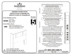 South Shore Furniture 3550098 Instructions / Assembly