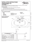 American Standard 2764014M202.011 Installation Guide