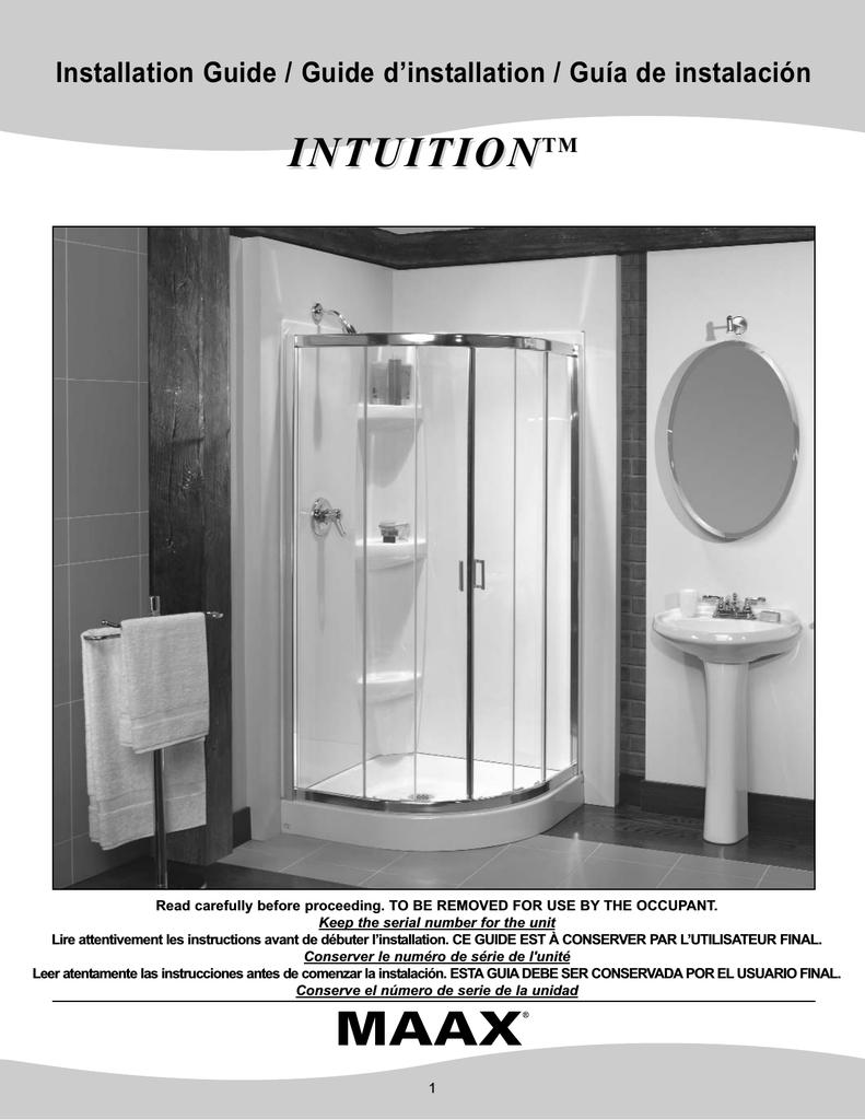 Maax 105968 000 001 102 Installation Guide