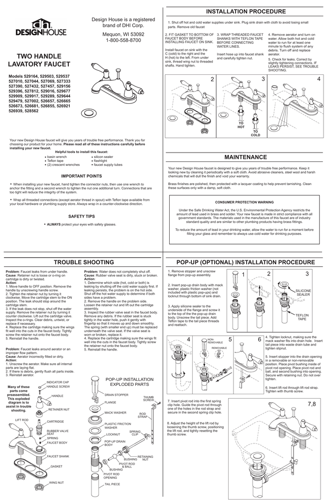 Design House 545517 Instructions / Assembly