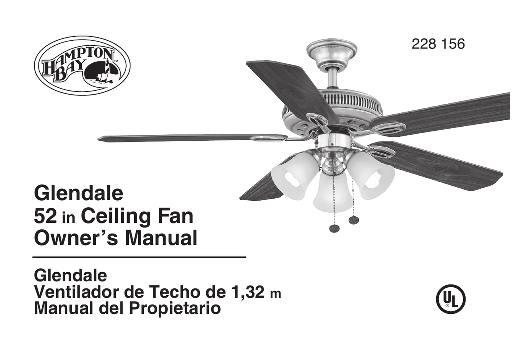 Hampton Bay Ceiling Fan Manual