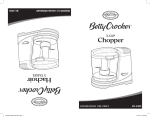Betty Crocker BC-2405C Use and Care Manual