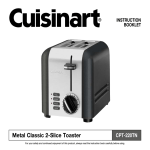 Cuisinart CPT-220TN Use and Care Manual