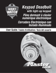 Master Lock DSKP0615D Use and Care Manual