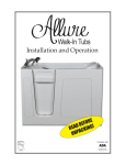 Allure Walk In Tubs S60WL Instructions / Assembly