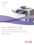 Xerox WORKCENTRE 6400 User's Manual