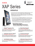 Xerox VERSATILE XAP Series User's Manual