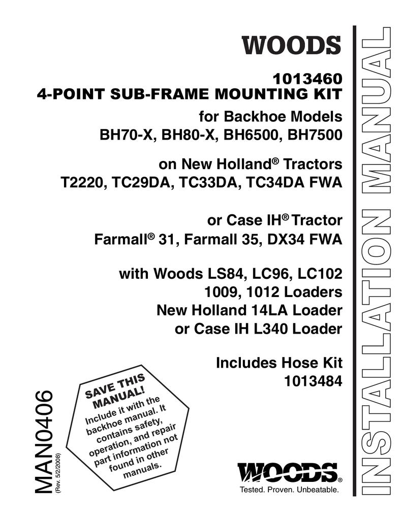 Woods Equipment 1013460 User's Manual