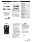 Whistler XTR-435 User's Manual