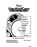 Whirlpool SF385PEY User's Manual