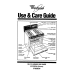 Whirlpool SF365BEW User's Manual