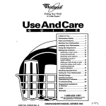 Whirlpool SERIES 940 User's Manual