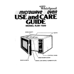 Whirlpool RJM 7500 User's Manual