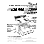 Whirlpool RIE360B User's Manual