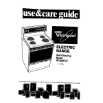 Whirlpool RF385PCV User's Manual