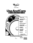 Whirlpool RF354BXB User's Manual