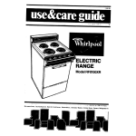 Whirlpool RF0100XR User's Manual